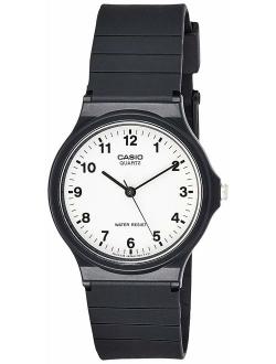 Men's Quartz Resin Casual Watch, Color:black (model: Mq24-7b)