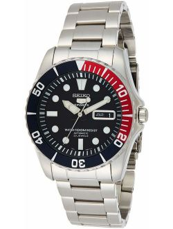 5 Blue Dial Stainless Steel Automatic Mens Watch Snzf15