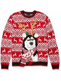 Men's Ugly Christmas Sweater Dogs