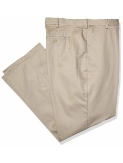 Men's Big And Tall American Chino Flat Front Extended Straight Fit Twill Pant