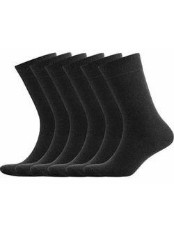 GOBEST 100% Cotton Dress Socks Men Comfy Casual Crew Business for Men
