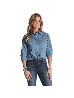 Women's Long Sleeve Western Snap Work Shirt