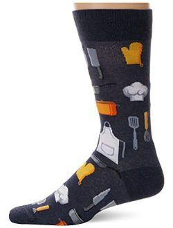 Hot Sox Men's Conversation Starter Novelty Casual Crew Socks