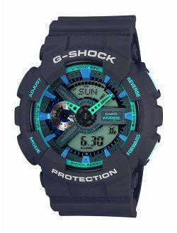 Men's Xl Series G-shock Quartz 200m Wr Shock Resistant Resin Color: Matte Grey (model Ga-110ts-8a2cr)