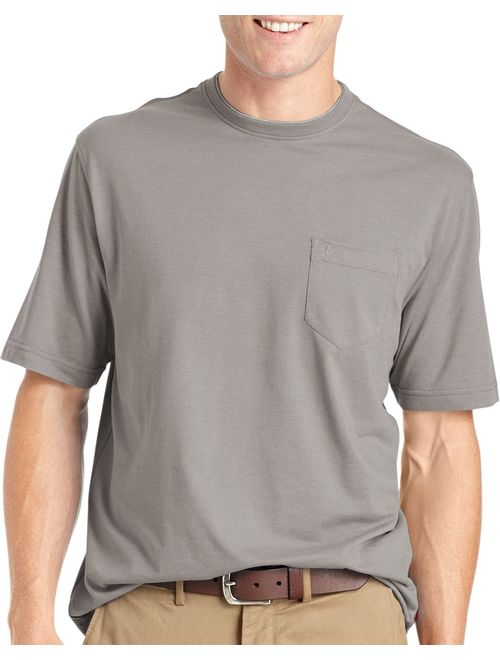 IZOD Men's Chatham Point Short Sleeve Solid Jersey T-Shirt with Pocket