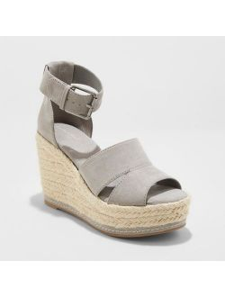 Microsuede Ankle Strap Espadrille Wedge - Universal Thread™