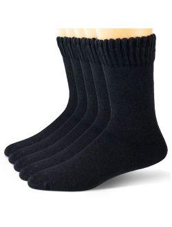 EBMORE Mens Wool Socks Heavy Thick Socks Thermal Fuzzy Warm Comfort Crew Winter Socks 5 Pack