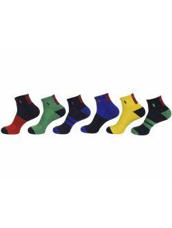Men's Athletic 6 Pack Quarter Sock