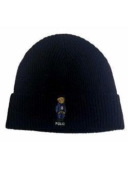 Unisex Bear Design Wool Winter Skulllie Cap Beanie Hat One Size