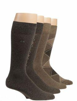 Men's Argyle Crew Bonus Socks- 4 Pack