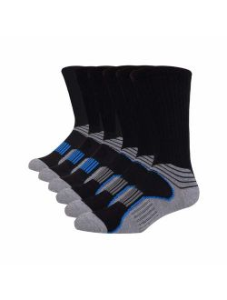 Mens Athletic Performance Crew Socks For Running And Training 6 Pack