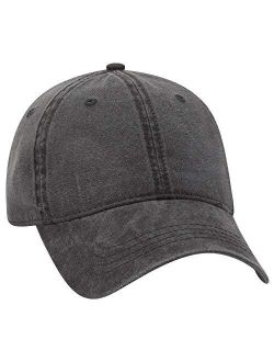 Otto 6 Panel Low Profile Garment Washed Pigment Dyed Baseball Cap