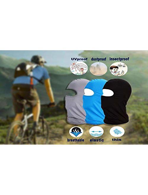 Mayouth Balaclava Face Mask Ski Mask Sun Uv Neck Face Cover Cloth Bike Outdoor Sports 3pac Topofstyle