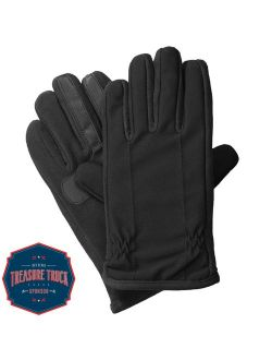 Men's Tech Stretch Touchscreen Texting Cold Weather Gloves With Warm Dual Lining