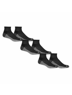 Men's Ankle Quarter Socks (6 Pack) With Cushion And Arch Support