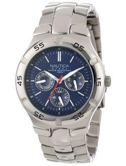 Men's N10061 Stainless Steel Round Multi-function Watch