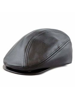 The Hat Depot Prouldy Made in USA Premium Quality Genuine Leather Gatsby Ivy Hat