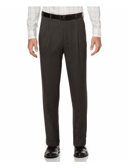 Men's Classic Fit Double Pleated Cuffed Pant