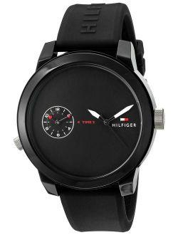Men's 1791326 Analog Display Quartz Black Watch