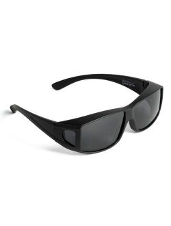 Sunglasses Over Glasses- Polarized Fitover Sunglasses with 100% UV Protection for Men or Women- Style 2 by Pointed Designs
