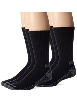Men's Heavyweight Cushion With Ankle And Arch Compression Work Crew Socks