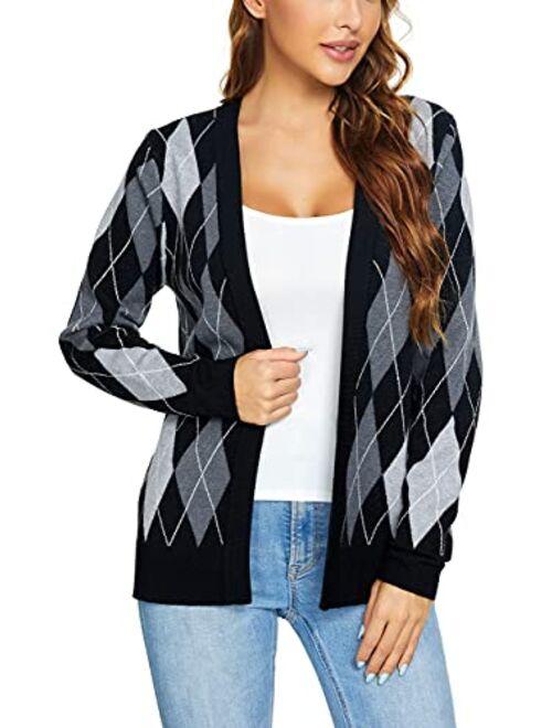 Urban CoCo Women's Long Sleeve Open Front Knit Cardigan Sweater
