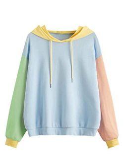 Womens Long Sleeve Floral Print Pullover Hoodie Sweatshirt Tops