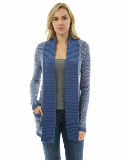 Women Open Front Marled Sweater Cardigan