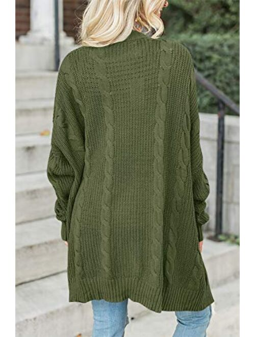 For G and PL Women Open Front Long Sleeve Sweater Cardigan Coat with Pocket