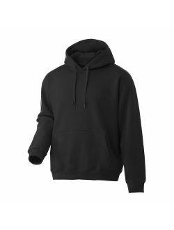 Rich Cotton Men Hoodie Fleece Sweatshirt Pullover Long Sleeve Heavyweight Performance Slim Fit Small Big and Tall Winter Fall
