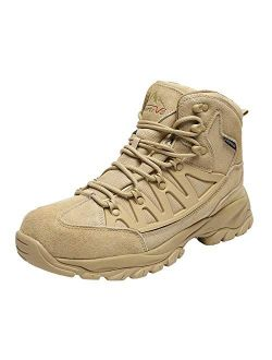 NORTIV 8 Men's Waterproof Hiking Boots Mid Outdoor Backpacking Trekking Trails Lightweight Shoes