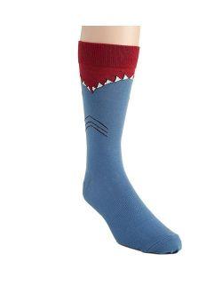 Men's Leg Eating Animal Novelty Crew Socks