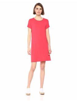 Women's Short-sleeve Scoopneck Swing Dress