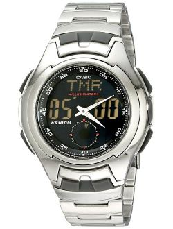 Men's Aq160wd-1bv Stainless Steel Ana-digi Electro-luminescent Sport Watch