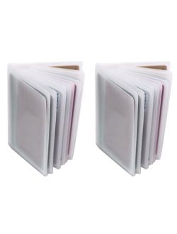 Set of 2-10 Page Plastic Card Wallet Insert For Bifold Trifold 20 Slots Replacement