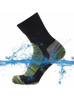 SuMade 100% Waterproof Socks, Unisex Breathable Outdoor Dry Fit Moisture Wicking Hiking Cycling Skiing Crew Socks