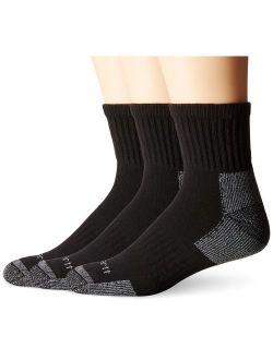 Men's 3 Pack Work Quarter Socks