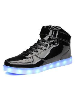 MOHEM ShinyNight High Top LED Shoes Light Up Shoes USB Charging Flashing Sneakers