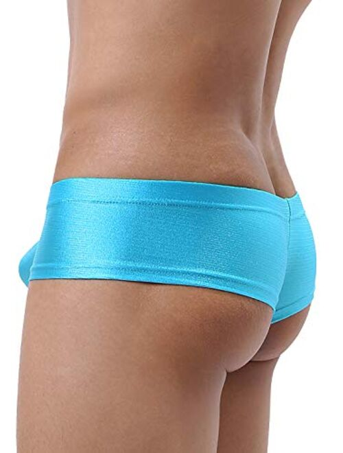 iKingsky Men's Cheeky Thong Underwear Sexy Mini Cheek Boxer Briefs