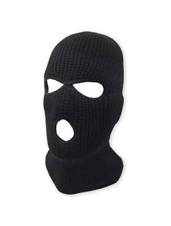 3 Hole Beanie Face Mask Ski - Warm Double Thermal Knitted - Men and Women