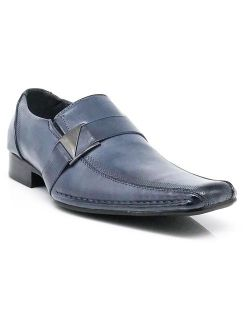 Enzo Romeo Stone Men's Dress Loafers Elastic Slip on with Buckle Fashion Shoes Runs Half Size Big