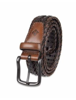 Men's Casual Leather Braided Belt