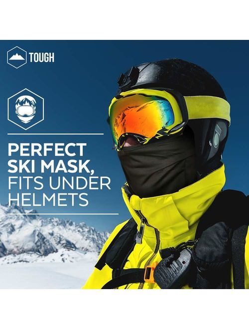 Motorcycling Black Snowboarding Balaclava Face Mask- Windproof Ski Mask Cold Weather Face Cover for Skiing Men/&Women