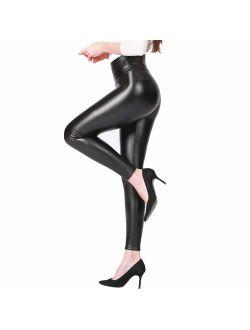 Babyskin Faux Leather Leggings N Shea Butter Fleece Lined Leggings for Women