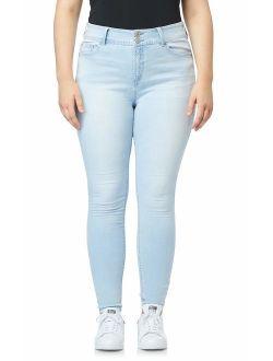 WallFlower Women's Juniors InstaStretch Luscious Curvy Skinny Jeans