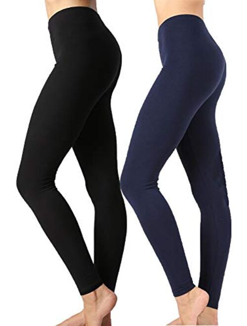 Buy Zenana Outfitters JKC USA Selected Premium Cotton Full Length Solid  Color Leggings Various Colors OP-1851 online | Topofstyle