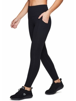 Active Women's Power Hold High Waist Athletic Leggings With Pockets