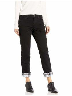 Women's Fleece Lined Relaxed Straight Leg Jean