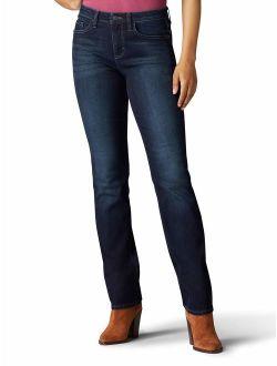Riders by Lee Indigo Women's Midrise Straight Leg Jean