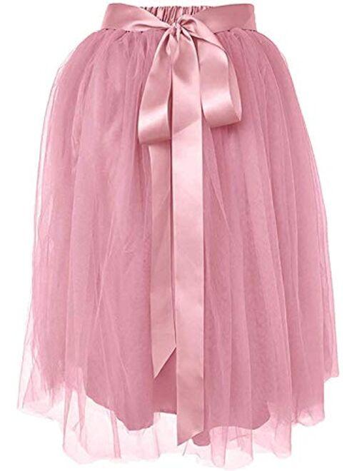 Dancina A Line Tulle Skirt Knee Length Tutu for Girls & Women